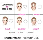 contouring by face shape | Shutterstock .eps vector #484084216
