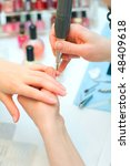 manicure in process | Shutterstock . vector #48409618