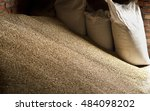wheat grains in sacks at mill...