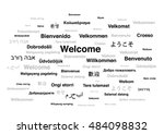welcome phrase in different... | Shutterstock .eps vector #484098832