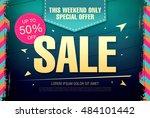 sale template banner | Shutterstock .eps vector #484101442
