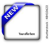 blue corner ribbon for new... | Shutterstock .eps vector #48410623