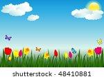 raster version of vector spring ...   Shutterstock . vector #48410881