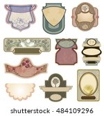 ornate vintage labels in style... | Shutterstock .eps vector #484109296