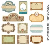ornate vintage labels in style... | Shutterstock .eps vector #484109302