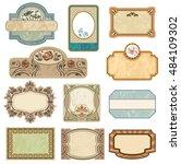 ornate vintage labels in style... | Shutterstock .eps vector #484109302