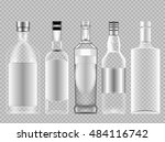 vector set of transparent glass ... | Shutterstock .eps vector #484116742
