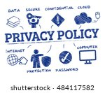 privacy policy. chart with... | Shutterstock .eps vector #484117582