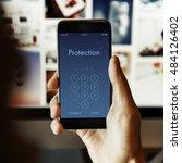 access identification password... | Shutterstock . vector #484126402