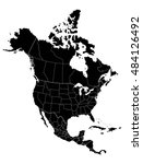 map of north america | Shutterstock .eps vector #484126492