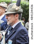 Small photo of An old italian alpine military man is thinking and remembering past times during the parade of italian alpine military corps happened in Pordenone (Italy) - may 2014