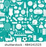 doodle sports elements. vector...   Shutterstock .eps vector #484141525