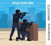 special police force vector... | Shutterstock .eps vector #484141972