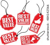 best value red tag set  vector... | Shutterstock .eps vector #484142566