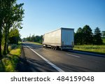 two trucks going against each... | Shutterstock . vector #484159048