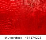 red shiny wrapping paper... | Shutterstock . vector #484174228