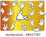 set of cartoon hands expressing ... | Shutterstock .eps vector #48417787
