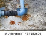 Small photo of pipe water plumbing steel leak industrial the at bind with rubber