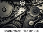 close up car engine  internal... | Shutterstock . vector #484184218