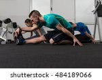 group of young people... | Shutterstock . vector #484189066