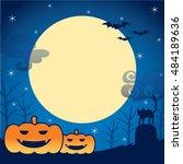 halloween frame. | Shutterstock .eps vector #484189636