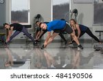 group of people at the gym in a ... | Shutterstock . vector #484190506