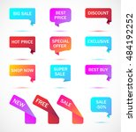 vector stickers  price tag ... | Shutterstock .eps vector #484192252