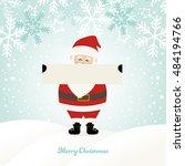 lovely santa claus at winter... | Shutterstock .eps vector #484194766