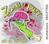 zombie hand | Shutterstock .eps vector #484197406