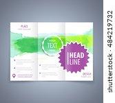 brochure tri fold template ... | Shutterstock .eps vector #484219732