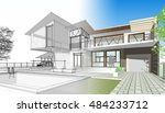 townhouse  3d illustration | Shutterstock . vector #484233712
