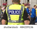 police officer in hi visibility ... | Shutterstock . vector #484239136