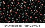 trendy seamless floral pattern... | Shutterstock .eps vector #484239475