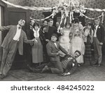 objecting to wedding | Shutterstock . vector #484245022