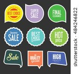 badges and labels collection | Shutterstock .eps vector #484246822