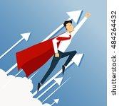 illustration of super leader... | Shutterstock .eps vector #484264432