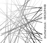 abstract chaotic lines pattern. ... | Shutterstock . vector #484269448