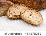 slices of homemade artisan bread   Shutterstock . vector #484270252