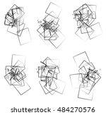 random  scattered angular... | Shutterstock . vector #484270576