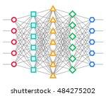 neural net. neuron network.... | Shutterstock .eps vector #484275202