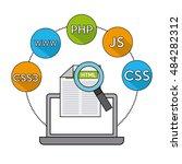 software programming language... | Shutterstock .eps vector #484282312