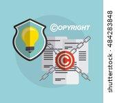 copyright set flat icons vector ... | Shutterstock .eps vector #484283848
