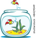 aquarium with goldfishes | Shutterstock .eps vector #48429049