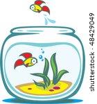 aquarium with goldfishes   Shutterstock .eps vector #48429049