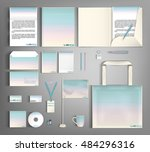 corporate identity kit or... | Shutterstock .eps vector #484296316