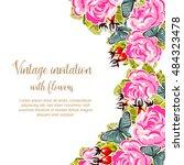 vintage delicate invitation... | Shutterstock . vector #484323478