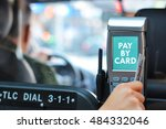 pay taxi ride by card | Shutterstock . vector #484332046