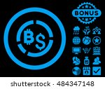 bitcoin financial diagram icon... | Shutterstock .eps vector #484347148