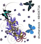 illustration with butterflies... | Shutterstock .eps vector #48434716