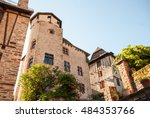 conques medieval village  france | Shutterstock . vector #484353766